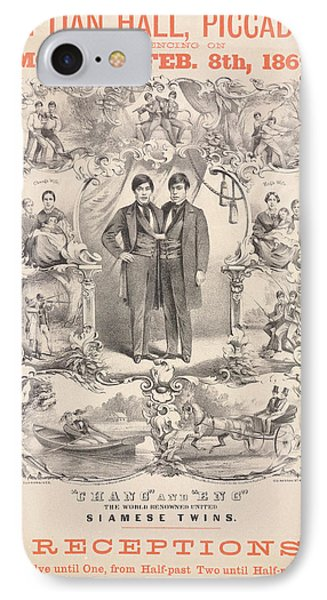 Chang And Eng IPhone Case by British Library