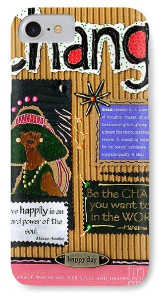 Change - Handmade Card IPhone Case by Angela L Walker