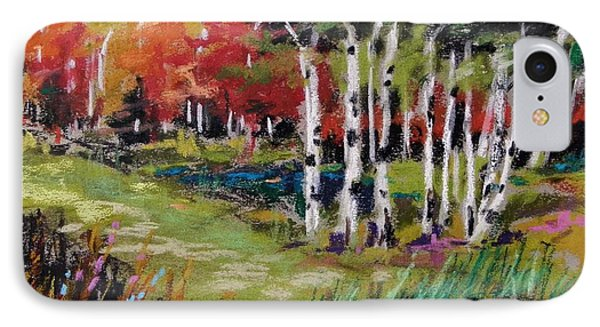 IPhone Case featuring the painting Changing Birches by John Williams
