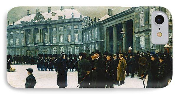 Changing Of The Guard At Amalienborg Palace Phone Case by Paul Fischer