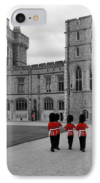 Changing Of The Guard At Windsor Castle Phone Case by Lisa Knechtel