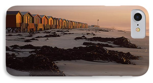 Changing Room Huts On The Beach IPhone Case by Panoramic Images