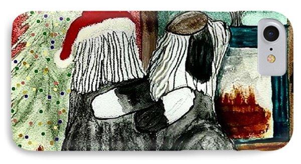Chanukah Christmas Friends IPhone Case