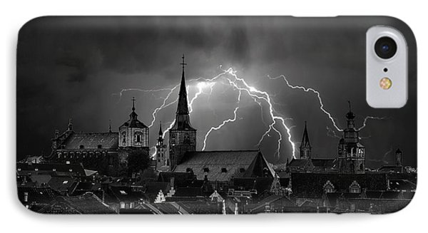 Chaos In The Sky Of Bruges IPhone Case