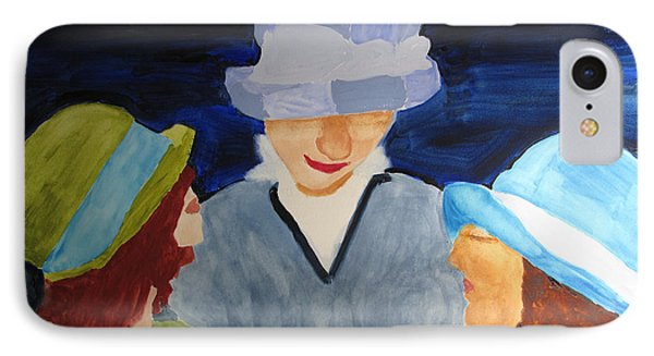 IPhone Case featuring the painting Chapeaux Trois by Sandy McIntire