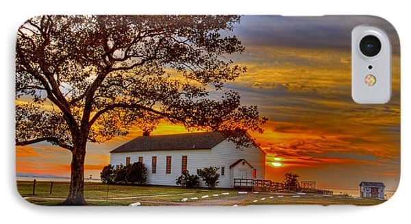 Chapel At Fort Hancock Sandy Hook Nj In Sunset IPhone Case by Geraldine Scull