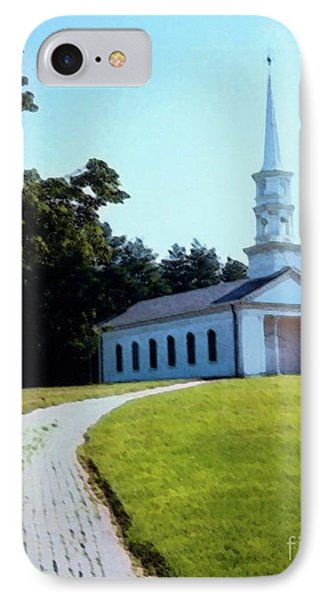 Chapel At The Wayside Inn Phone Case by Desiree Paquette