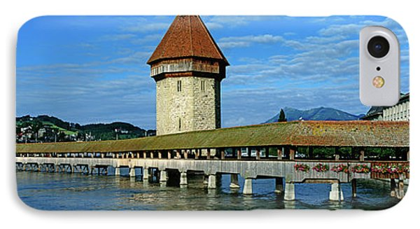 Chapel Bridge On The Reuss River IPhone Case by Panoramic Images
