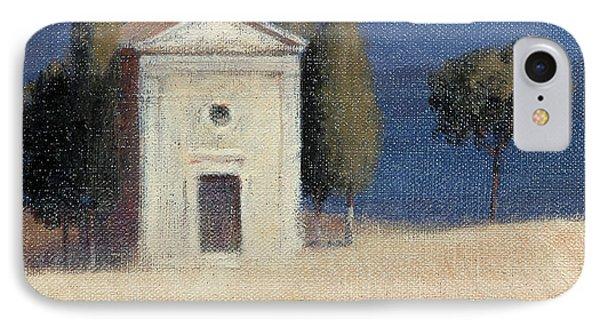 Chapel Near Pienza II, 2012 Acrylic On Canvas IPhone Case