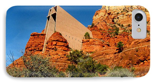 Chapel Of The Holy Cross 2 IPhone Case by Marilyn Smith