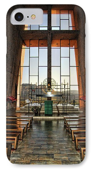 Chapel Of The Holy Cross Interior IPhone Case by Jon Berghoff