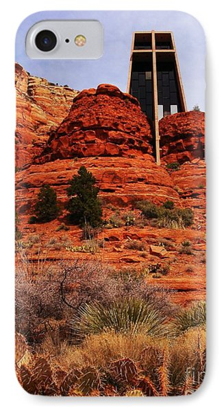 Chapel Of The Holy Cross 3 IPhone Case by Marilyn Smith