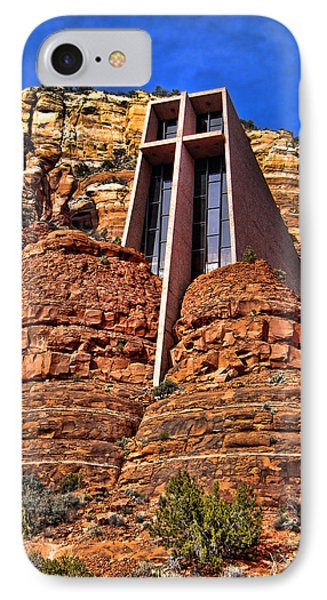 Chapel Of The Holy Cross  Sedona Arizona IPhone Case by Jon Berghoff