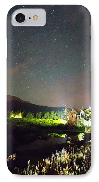 Chapel On The Rock Stary Night Portrait IPhone Case by James BO  Insogna