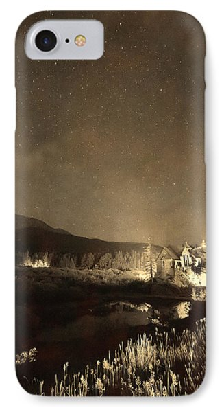 Chapel On The Rock Stary Night Portrait Monotone IPhone Case by James BO  Insogna