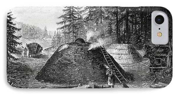 Charcoal Production, 19th Century IPhone Case by Spl