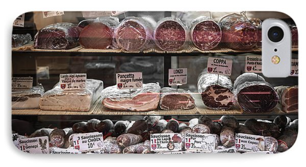 Charcuterie On Display In Butcher Shop In Old Nice IPhone Case by Elena Elisseeva