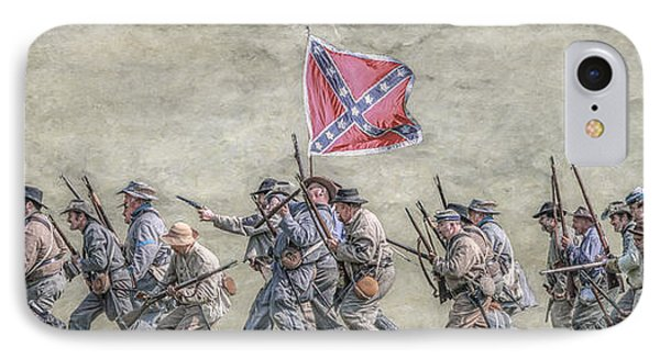 Charge Of The Virginia Regiment At Gettysburg IPhone Case by Randy Steele