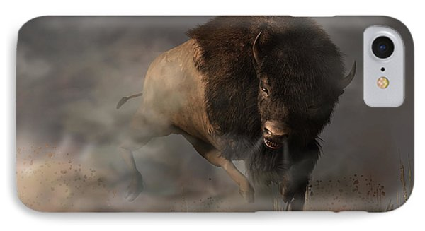 Charging Bison IPhone Case by Daniel Eskridge