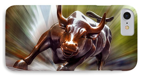 Charging Bull IPhone Case by Az Jackson