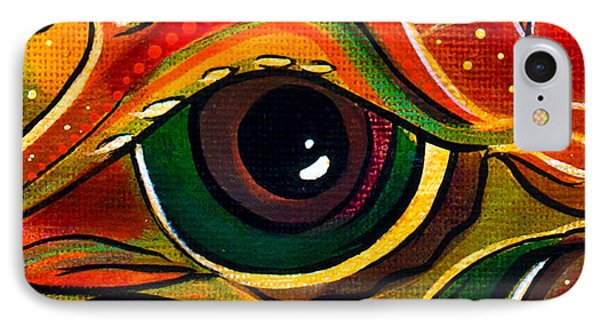 IPhone Case featuring the painting Charismatic Spirit Eye by Deborha Kerr