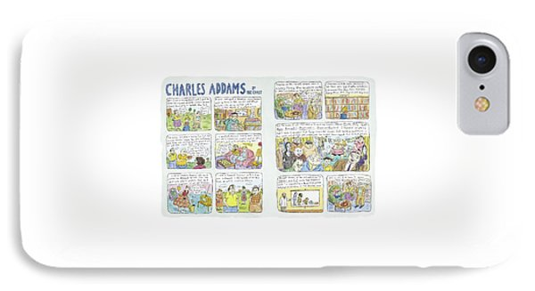 Charles Addams IPhone Case by Roz Chast