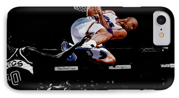 Charles Barkley Hanging Around IPhone Case by Brian Reaves