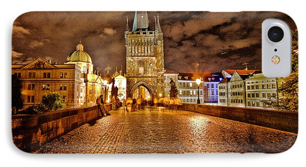 Charles Bridge At Night IPhone Case by Madeline Ellis