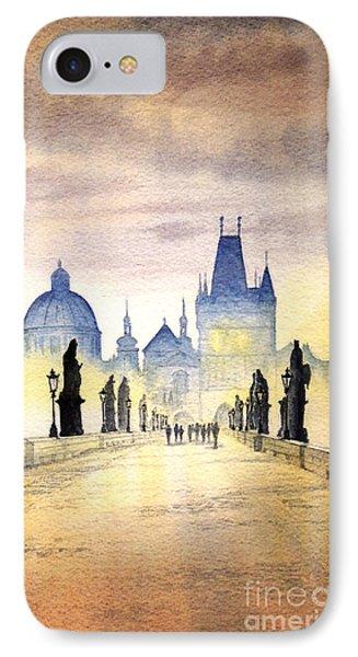 Charles Bridge Prague Phone Case by Bill Holkham