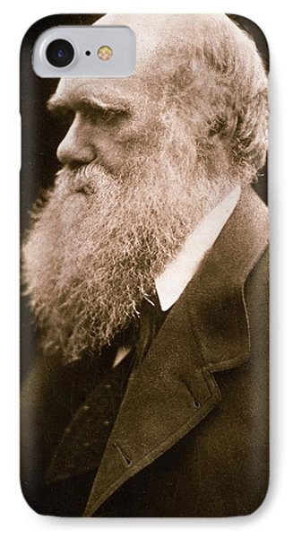Charles Darwin IPhone Case by Julia Margaret Cameron