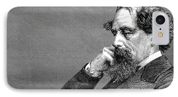 Charles Dickens IPhone Case by Daniel Hagerman