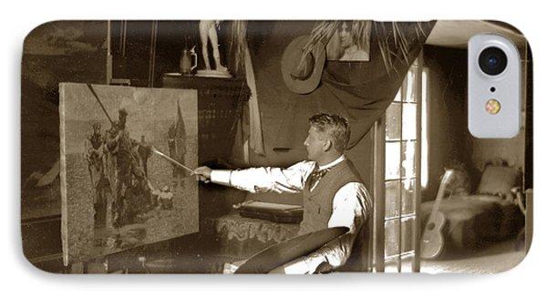 Charles Dickman Artist Monterey California Circa 1907 Phone Case by California Views Mr Pat Hathaway Archives