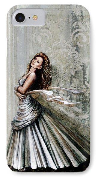 Charles James Swan Gown IPhone Case by Joan Garcia