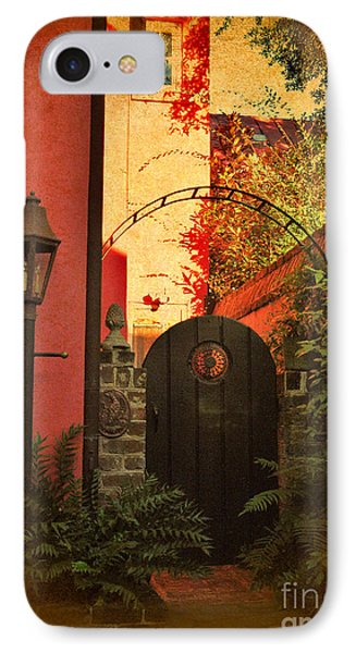 IPhone Case featuring the photograph Charleston Garden Entrance by Kathy Baccari