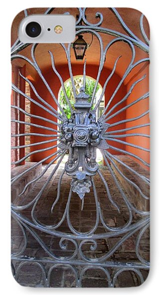 Charleston Gate 1 IPhone Case by Randall Weidner