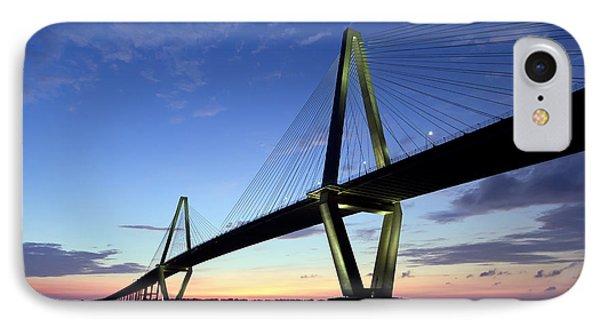 Charleston Ravenel Bridge Sunset IPhone Case by Dustin K Ryan