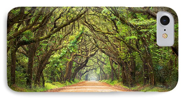 Charleston Sc Edisto Island - Botany Bay Road IPhone 7 Case by Dave Allen