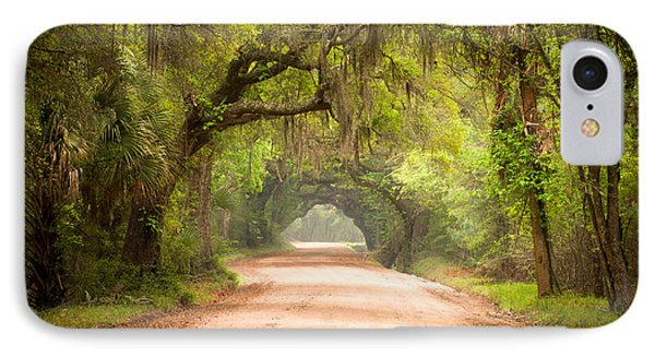 Charleston Sc Edisto Island Dirt Road - The Deep South IPhone Case by Dave Allen
