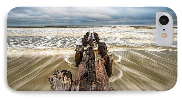 Charleston Sc Folly Beach Coastal Atlantic Ocean Phone Case by Dave Allen