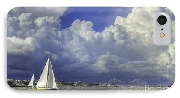 Charleston South Carolina Thunderstorms  8/2013 IPhone Case by Dustin K Ryan