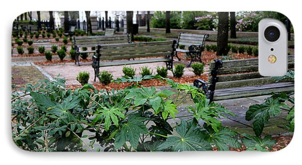 Charleston Waterfront Park Benches Phone Case by Carol Groenen