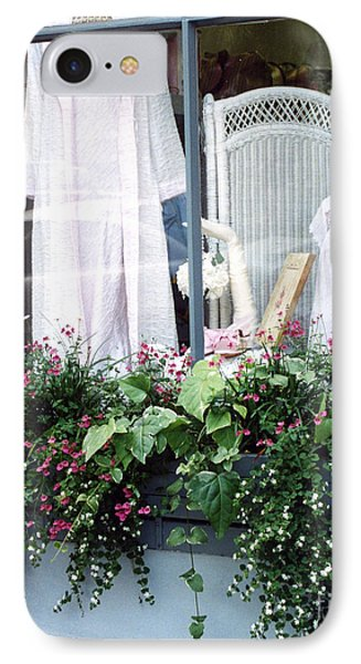 Charleston Window Boxes - Charleston Flowers Window Box And Lingerie Shop  IPhone Case by Kathy Fornal