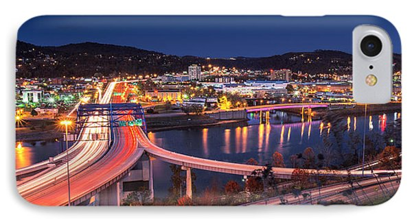Charleston Wv At Night IPhone Case by Mary Almond