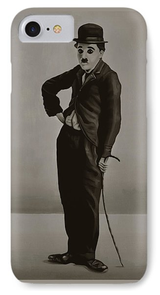 Charlie Chaplin Painting IPhone Case