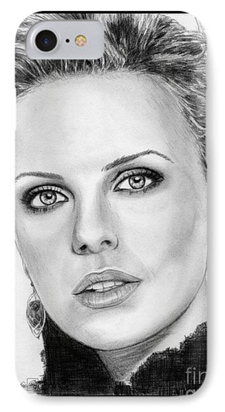 Charlize Theron In 2008 Phone Case by J McCombie