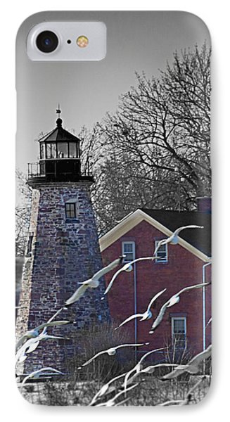 The Charlotte Genesee Lighthouse IPhone Case by Richard Engelbrecht