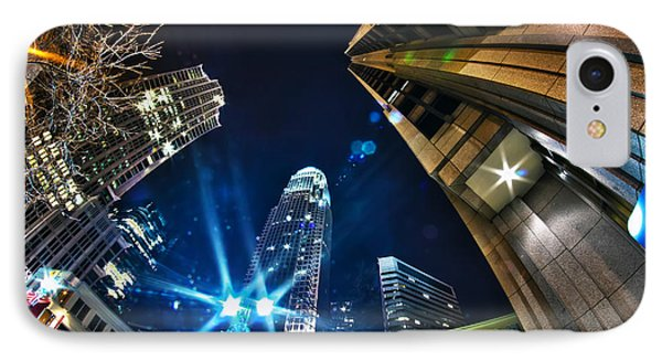 Charlotte Nc Usa - Nightlife Around Charlotte IPhone Case by Alex Grichenko