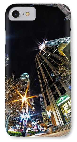 Charlotte Nc Usa  Nightlife Around Charlot IPhone Case by Alex Grichenko