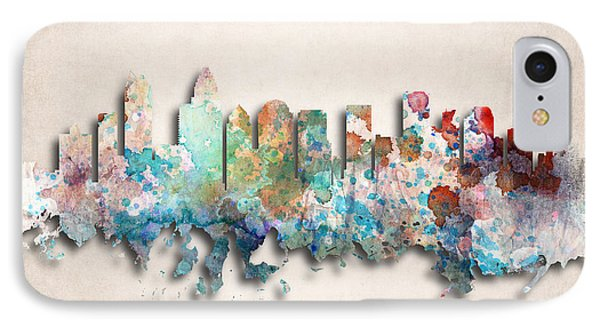 Charlotte Painted City Skyline IPhone Case