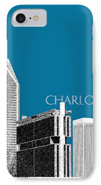 Charlotte Skyline 1 - Steel Phone Case by DB Artist